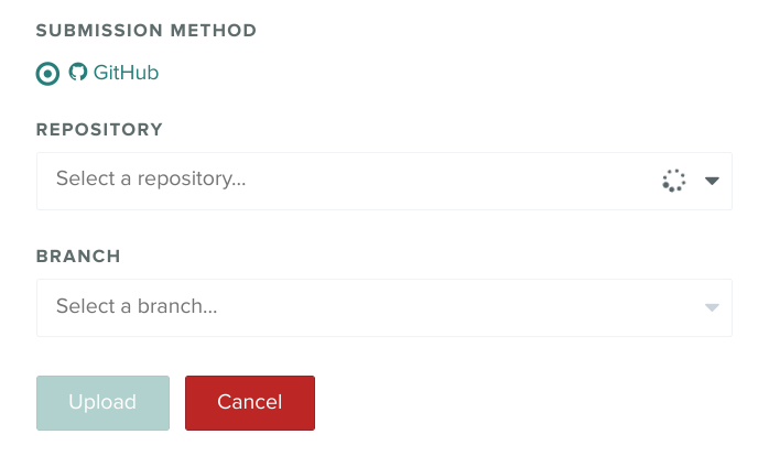 Github Repo and Branch Selection